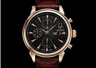 Bulova Accutron Mens Rose Gold Gemini Chronograph Watch 64C104