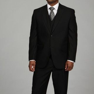 Sean John Mens Black 3 piece Suit