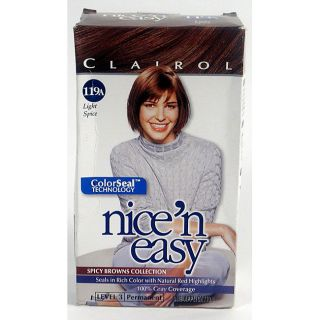 Clairol Nice & Easy #119A Light Spice Hair Color (Pack of 4