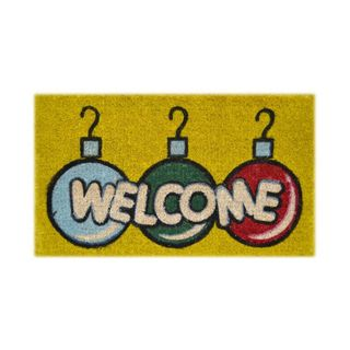 Welcome Bulbs Multi Coir Door Mat (26 x 16)