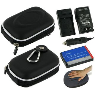 rooCASE Casio Black Hard Case and CNP 60 Battery Kit