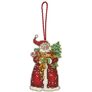 Susan Winget Santa Ornament Counted Cross Stitch Kit 2 3/4X4 3/4 14