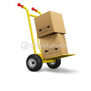 Hand cart or dolly with cardboard boxes  Stockfoto © William Day