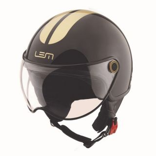 Casque Demi Jet ROGER GO FAST black and gold   Achat / Vente CASQUE