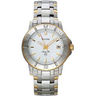 Bulova Mens Stainless Steel Two tone Watch