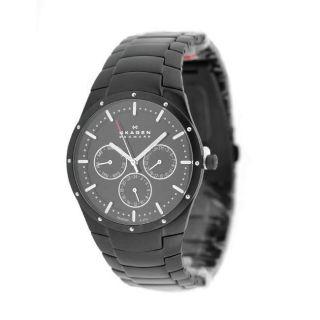 Skagen 596XLTMXB Mens Black Dial Titanium Watch