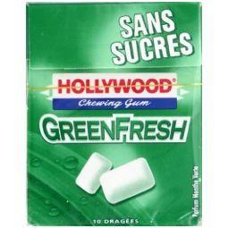 verte   Chewing gum sans sucres   Les 5 étuis de 10 dragées, 72,5g