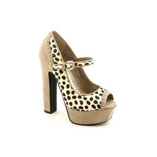 Bebe Womens Pennie Hair Calf Dress Shoes