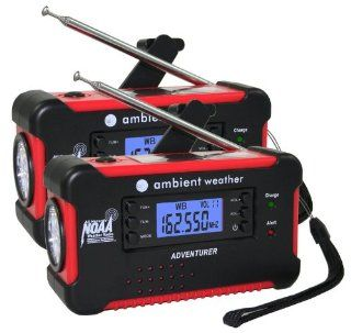 Ambient Weather WR 111 Emergency Solar Hand Crank AM/FM