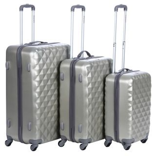 Olympia Yellowstone Rice Gold 3 piece Hardside Spinner Luggage Set