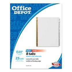 Office Depot 8 tab Index Dividers with White Labels