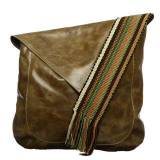 Olive Leather Messenger Bag (Colombia)