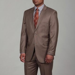 Caravelli Mens Light Brown Two button Suit