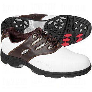 Etonic GSOK Sof Flex Golf Shoes White/Dk Brown 9M