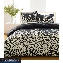 City Scene Branches Black 7 piece Bed in a Bag with Sheet Set Today $