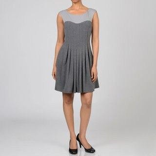 Decode 1.8 Womens Two Tone Grey Day Dress