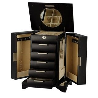 Seya Contemporary Espresso Wood Jewelry Box