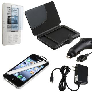 Leather Case/ Screen Protector/ Chargers/ Stylus for  Kindle 3