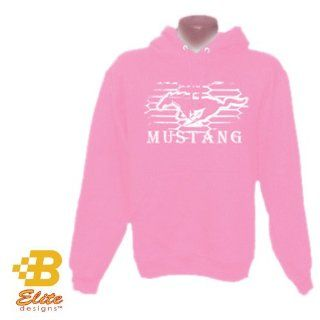 Ladies Ford Mustang Modern Grie Adut Hoodie Light Pink