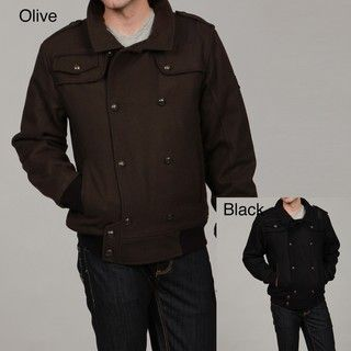 Rocawear Mens Wool Bomber Jacket