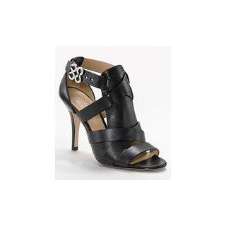 Coach Mila Open Toe Strappy Shoes Black Womens