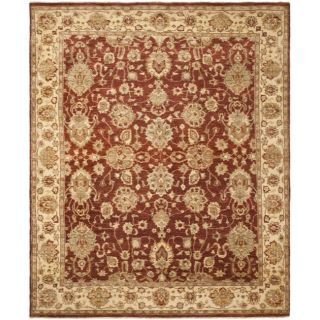 Pakistani Hand knotted Peshawar Red/ Beige Wool Rug (8 x 10