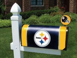Pittsburgh Steelers Official Mailbox Cover and Flag