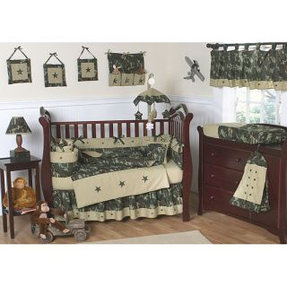 Sweet Jojo Designs Green Camo 9 piece Crib Bedding Set Today $169.99