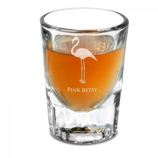 Flamingo Personalized Shot Glass
