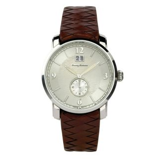 Tommy Bahama Mens Morocco Brown Leather Strap Watch
