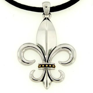 Meredith Leigh Sterling Silver Fleur De Lis Necklace