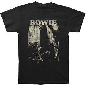 Rockabilia David Bowie Guitar Slim Fit T shirt Clothing