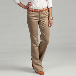 Calvin Klein Womens Dark Khaki Pants