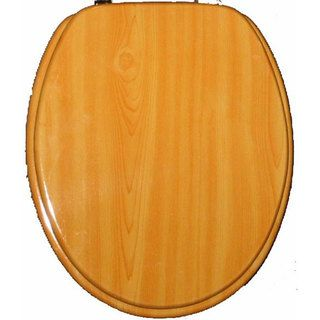 Light Wood Grain Molded Wood Solid Toilet Seat