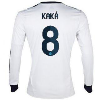 Adidas KAKA #8 Real Madrid Home Jersey Long Sleeve 2012 13