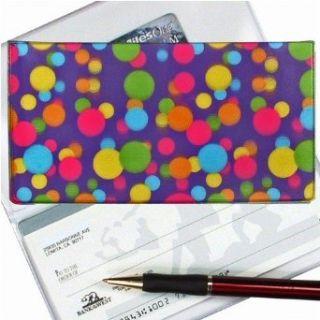 Lenticular Check Book Cover, 3D CORLOR BALLS , PINK, GREEN