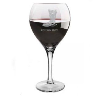 Star Cowboy Boot Red Wine Glass Shoes