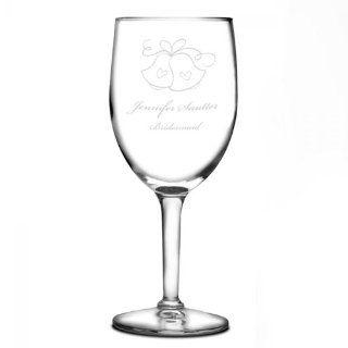 Wedding Bells Wine Glass
