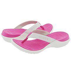 Crocs Capri White/ Fuchsia Sandals