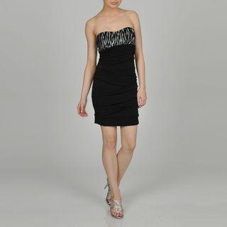 Ruby Rox Juniors Black/Silver Evening Mini Dress