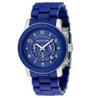 Michael Kors Mens Blue Polyurethane Strap Chronographic Watch