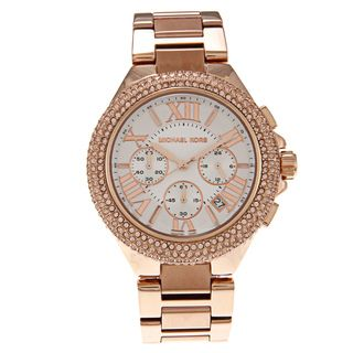 Michael Kors Womens MK5636 Rose Goldtone White Dial Watch