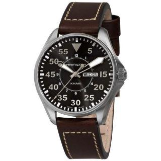 Hamilton Mens Khaki King Pilot Brown Strap Day/ Date Watch