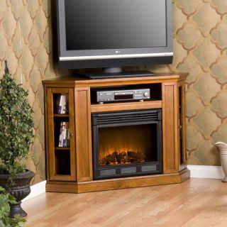 Belvedere Pine Media Console Elecric Fireplace