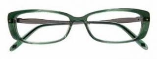 Ellen Tracy CAPRI Eyeglasses Green horn Frame Size 49 14 125: Clothing