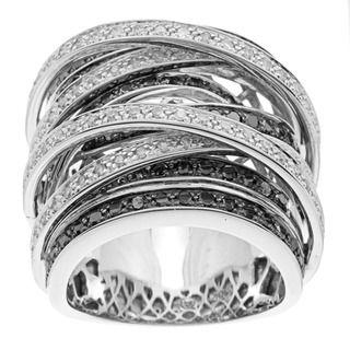 Beverly Hills Charm 10k Gold 1 1/2ct TDW Black and White Diamond
