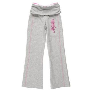Coloris  gris et rose. Pantalon ADIDAS Enfant pour Fille, avec taille