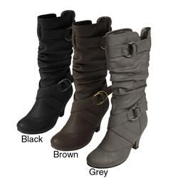 Journee Collection Womens Cynthia Ring accented Slouchy Boots