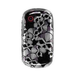 Black Skull Samsung Gravity Touch T669 Crystal Case
