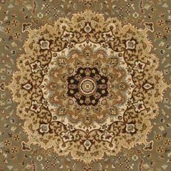 Majesty Extra Fine Sage/ Brown Rug (8 x 11)